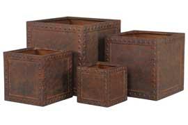 Acton crea corten cubi set 4 – 60x60x59 50x50x49 40x40x39 30×30 29 – Rust – 2935-4