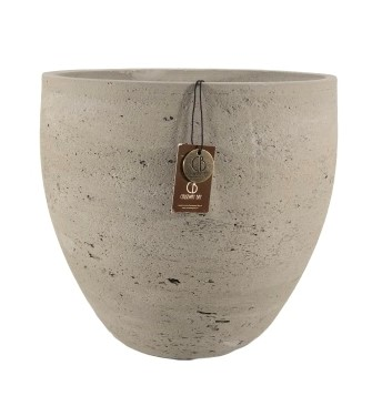 Adelaide cement light  pot A – 40×35 – Olive – 80005