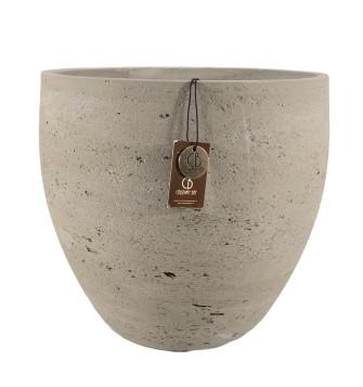 Adelaide cement light  pot C – 29×26 – Olive – 80007
