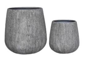 Gawler Woodlook bowl pot set 2 – 65×67 46×48 – WGREY – 81117