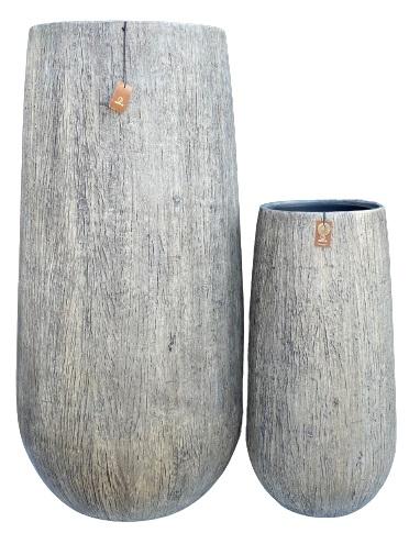 Gerroa Woodlook bowl vase + PI set 2 – 50×100 31×64 – WBEIGE – 81120