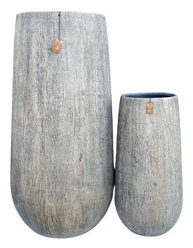 Gerroa Woodlook bowl vase + PI set 2 – 50×100 31×64 – WGREY – 81123