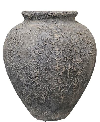 Forrest rustic Belly vase B – 55×62 – Swhite-black – 81717