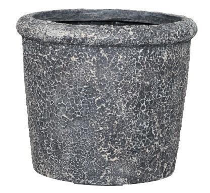 Forrest rustic cache pot C – 31×28 – Swhite-black – 82718